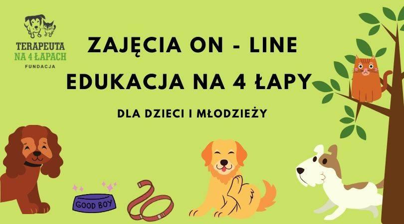 EDUKACJA NA 4 ŁAPY,CZYLI DOGOTERAPIA ON-LINE