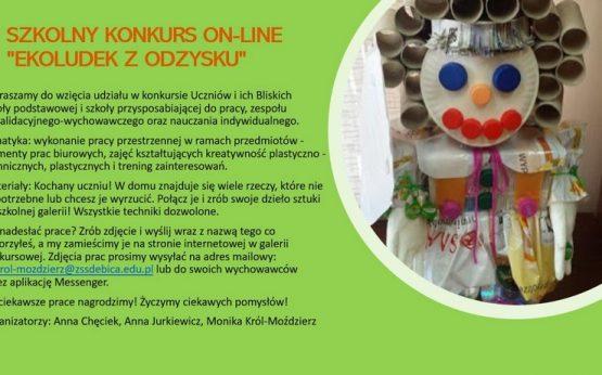 """SZKOLNY KONKURS ON-LINE """"EKOLUDEK ZODZYSKU"""""""